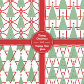 Christmas tree in line art and pattern diferent stile for postcard poster gifts
