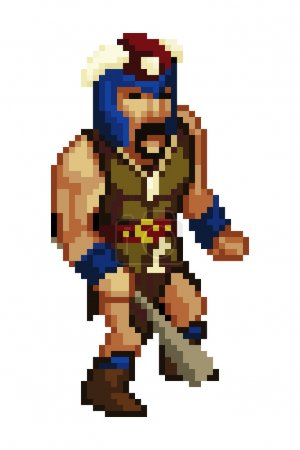 Pixel style game character vector
