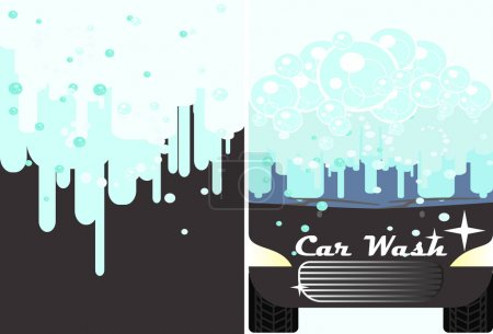 Vector car wash banner for advert.  Auto cleaning and polishing service