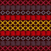 Aztec ethnic tribal seamless pattern.