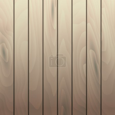 Illustration for Vector light beech wood grain texture vertical planks. Wooden table surface - Royalty Free Image