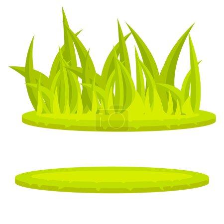 Grass lawn green cartoon vector clip art.