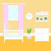 Nursery room with furniture Baby interior