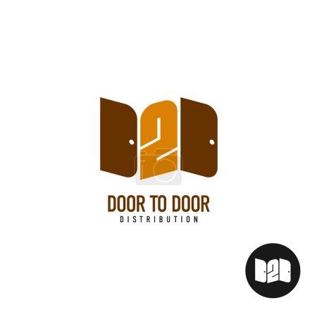 Door to door distribution logo
