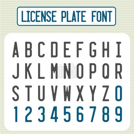 License plate font.