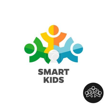 drei kinder club logo konzept