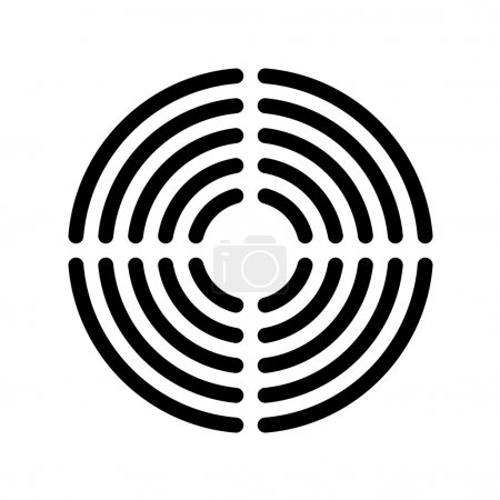 Speaker grille concentric lines template...