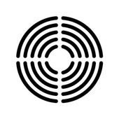Speaker grille concentric lines template