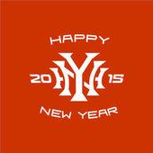 Šťastný nový rok titul logo