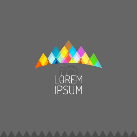 Vivid colors mountains logo