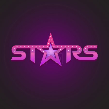 Stars logotype fashion concept.