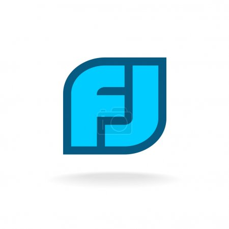 F and J letters monogram logo