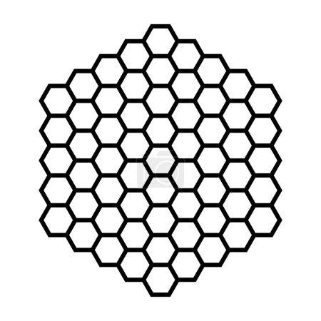 Illustration for Hexagon pattern field black outline illustration - Royalty Free Image
