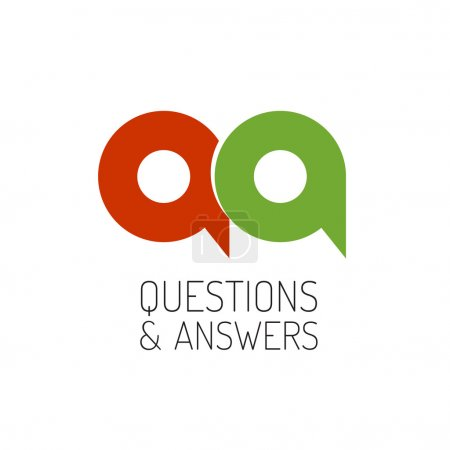 QA concept logo template