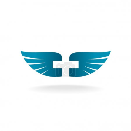 Wings and cross logo
