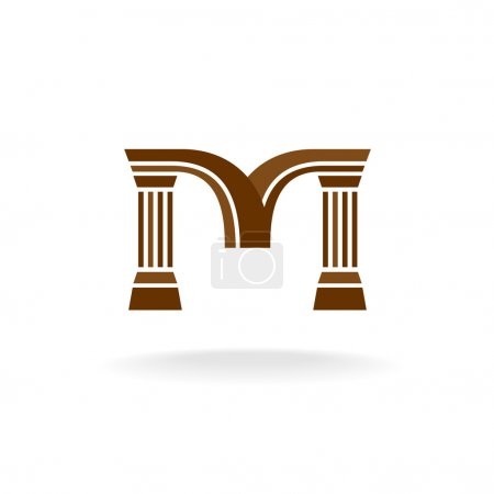Letter M logo with columns