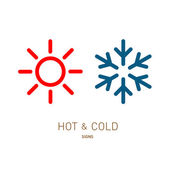 Sun and snowflake icons