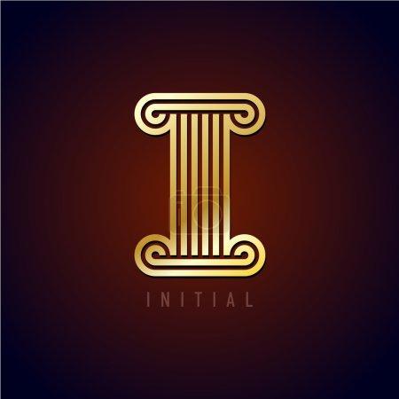 Letter I column logo