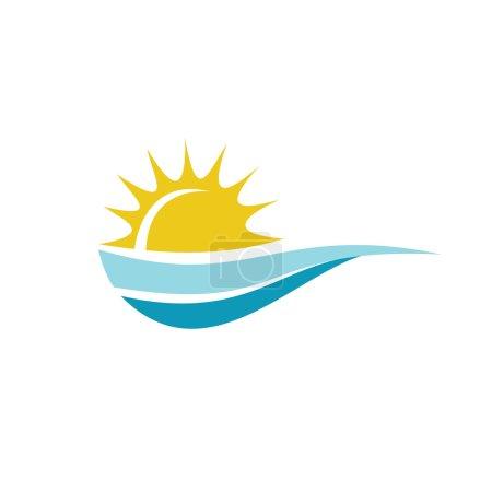 Sun with sea logo