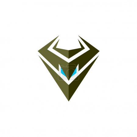 Symbole tête robot maléfique