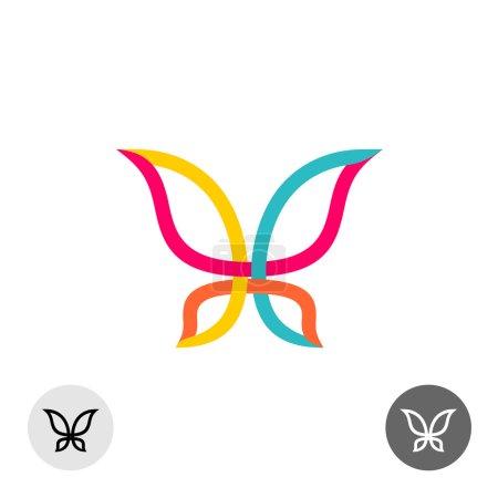 Butterfly silhouette logo