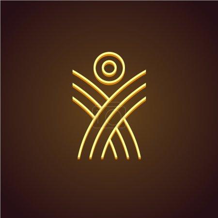 Human figure linear logo