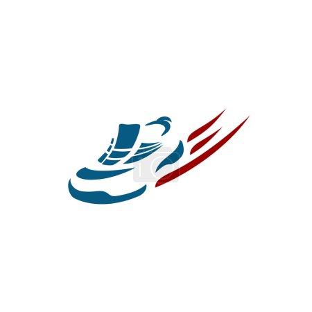 Speeding running shoe