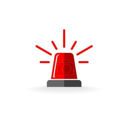 Red flasher symbol