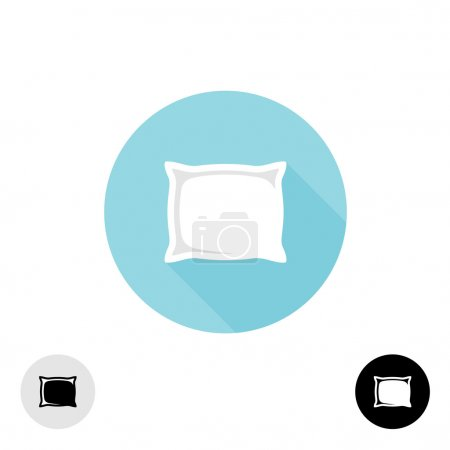 Illustration for Pillow logo. Simple elegant symmetry symbol with variations. - Royalty Free Image