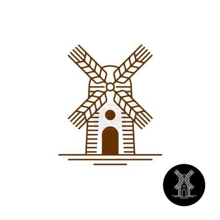 Windmill linear style logo