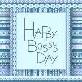 Happy boss day invitation card