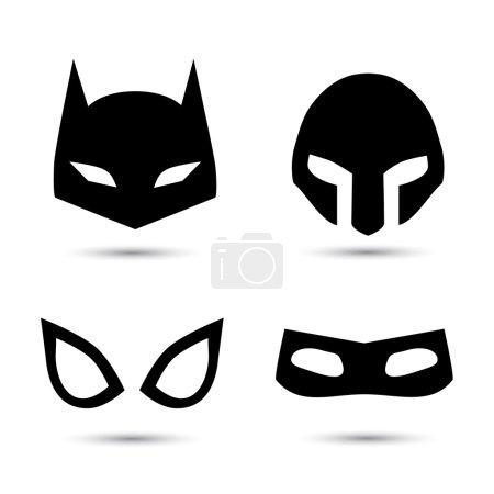 Super hero vector icons set