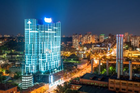 The rooftop view to the business-center at Kyiv city
