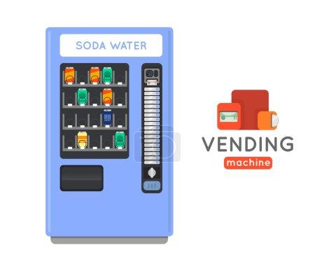 Vending machine vector set