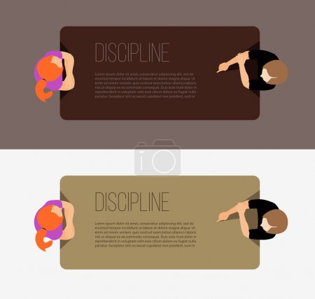 Discipline in workplace concept