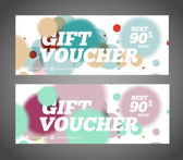 Gift vouchers vector set