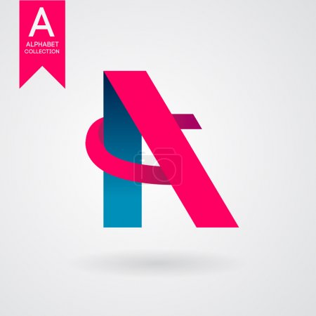 Graphic creative alphabet symbol