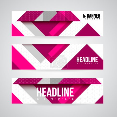 Banner design template for web or print