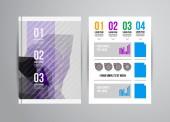 Obchodní flyer šablony s infographic