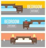 Bedroom interior design banners