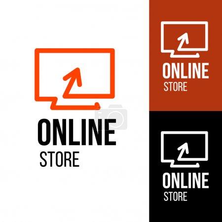 Illustration pour Boutique en ligne logo vectoriel. Pour les entreprises . - image libre de droit