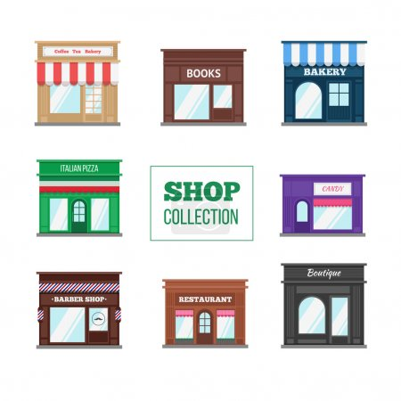 Flat shops and stores collection