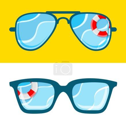 Sunglasses with sea concept