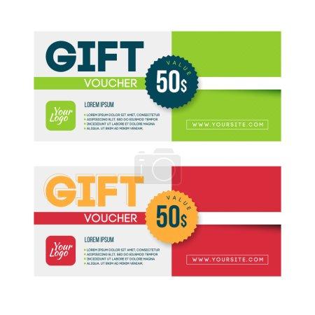 Gift voucher template set.