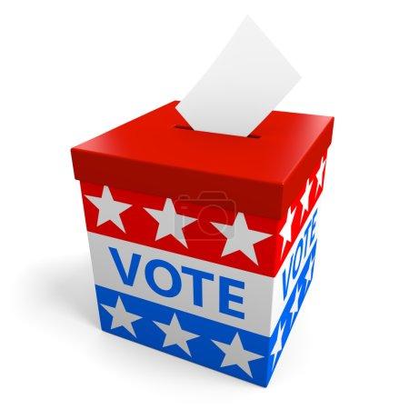 urne pour recueillir des votes lors d'une élection politique américaine