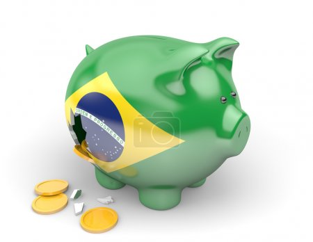 Brazil economy and finance concept for government spending and national debts
