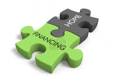 Home financing concept for real estate sales or house debt topics