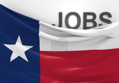 Texas jobs and employment opportunities concept
