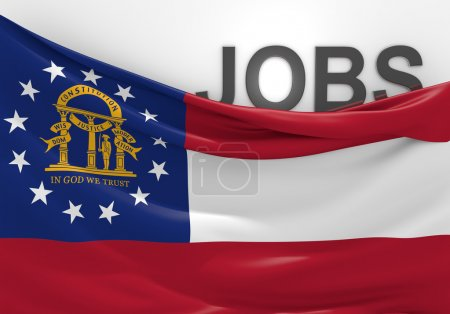 Georgia jobs and employment opportunities concept