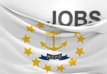 Rhode Island jobs and employment opportunities concept